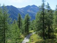 Salita al Furggupass, panorama su Pizzo Straciugo e Cima d'Azoglio