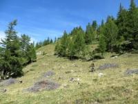 Discesa dal Furggupass, inizio del sentiero per Gabi