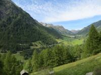Discesa dal Furggupass, panorama sulla vallata del Sempione