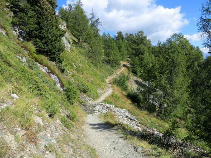 Leukerbad TorrentTrail - in direzione di Untere Feselalp