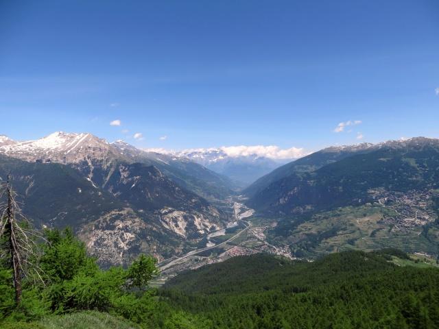 Vista sulla Val di Susa dalla Madonna del Cotolivier