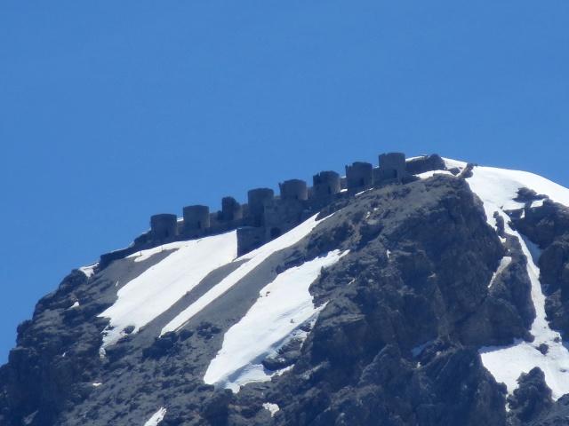 Le batterie militari sulla vetta del Monte Chaberton