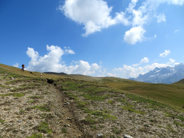 Tratto iniziale del sentiero che sale al Breithorn