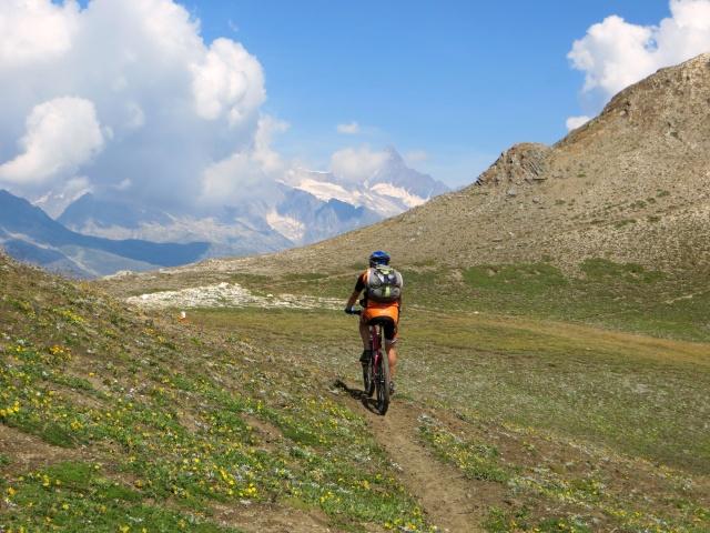 Lungo il sentiero che sale al Breithorn