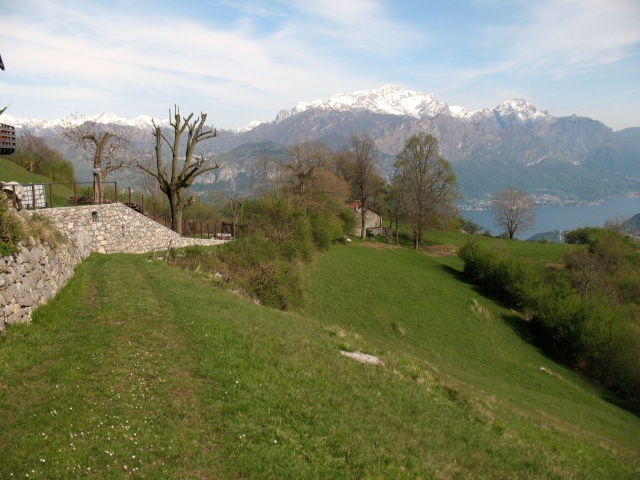 Discesa verso Tremezzo - Grigna sullo sfondo