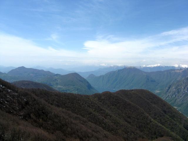 Panorama dall'Alpe di Lenno