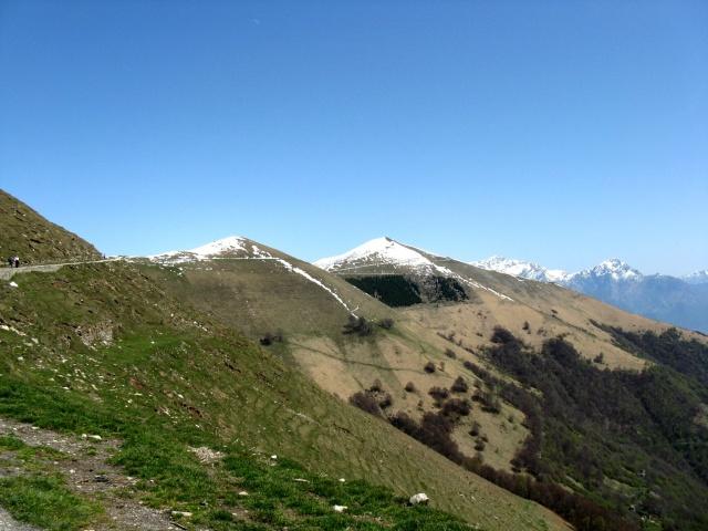 Monte Galbiga e Monte di Tremezzo dall'Alpe di Lenno