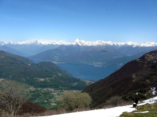 Panorama dal rifugio Venini, Rilievi della Valtellina