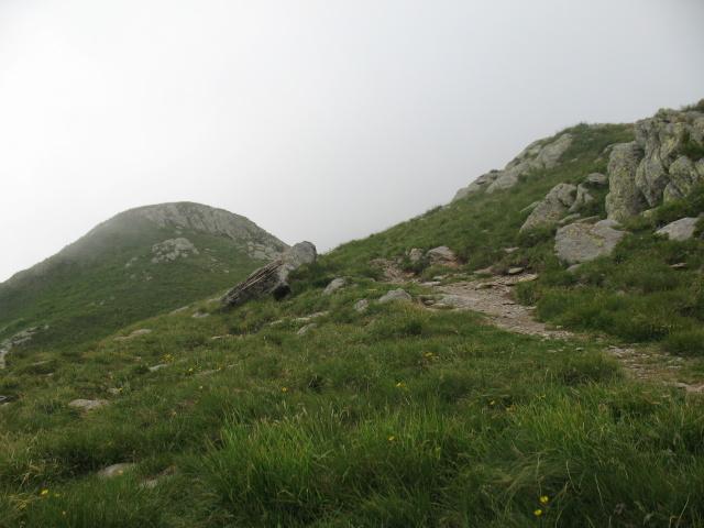 Discesa dalla vetta del Gazzirola lungo il crinale