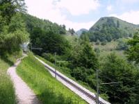 Single-track da Bellavista in direzione della vetta