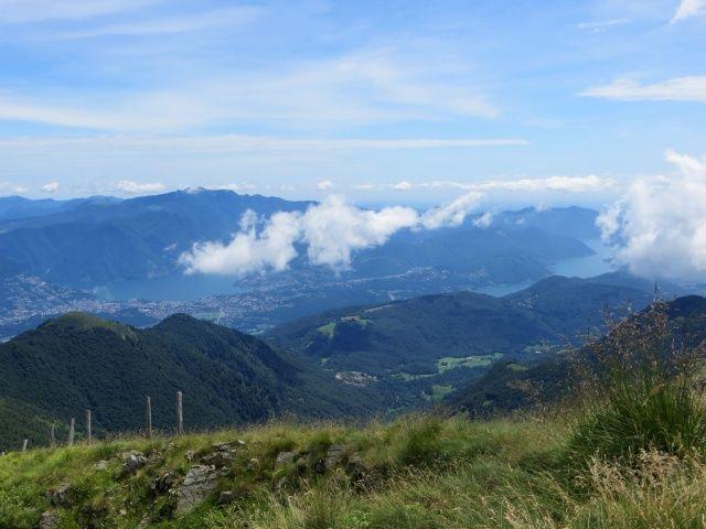 Panorama sul Malcantone dalla vetta del Gradiccioli