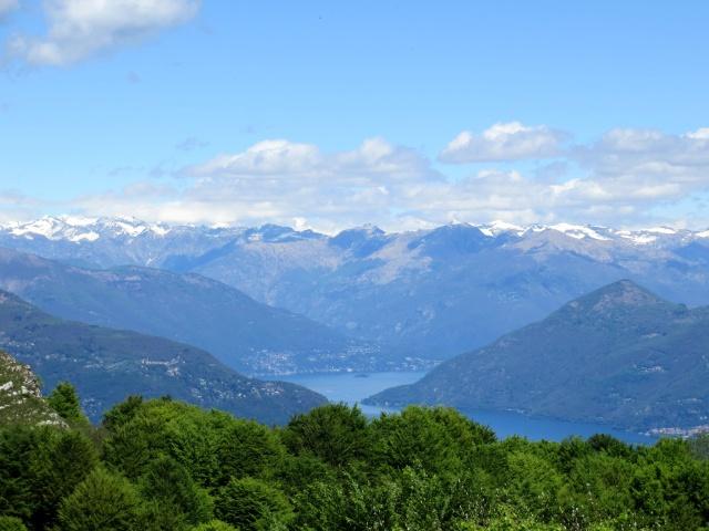 Panorama dal Monte Crocione: Alto Lago Maggiore