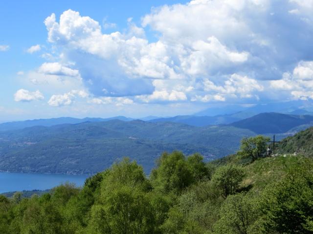 Panorama dal Monte Crocione: Alto Vergante