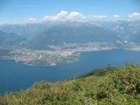 Ascona, Locarno ed il Piano di Magadino dalla vetta del Paglione