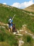 Breve tratto non ciclabile in direzione del Monte Paglione