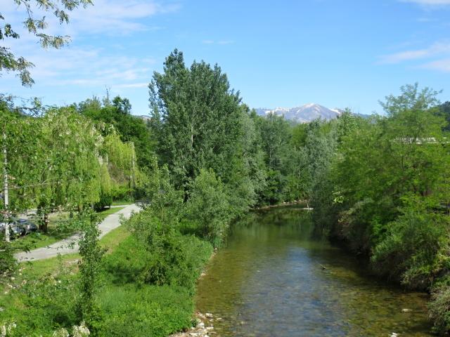 Ciclabile lungo il torrente Margorabbia, particolare