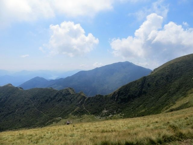 Monte Gradiccioli, valle di Duragno e sullo sfondo il tratto terminale del lago di Lugano