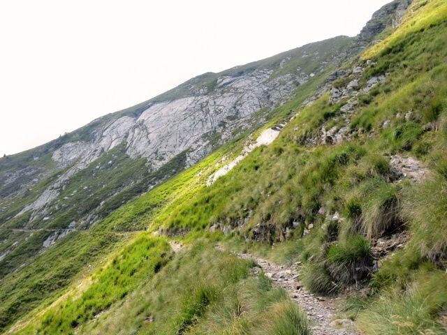 Single-track in discesa verso la Bassa di Indemini