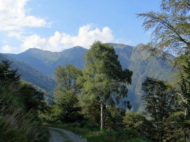 Strada per Torricella, panorama su Gruppo del Monte Tamaro (la vetta a sx)