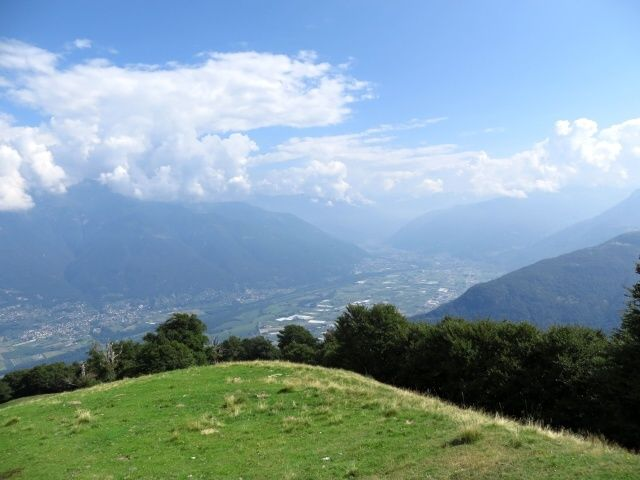 Bellinzona dall'Alpe Foppa