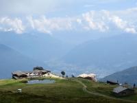 Corte di Sopra (arrivo cabinovia Tamaro) e Piana di Bellinzona