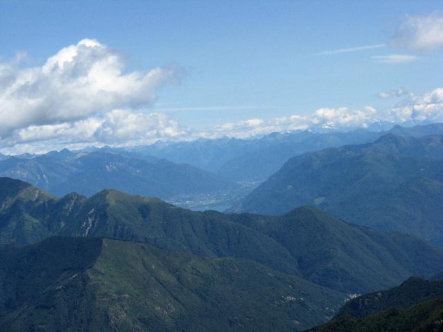 Panorama dallo Zeda - Particolare sul Piano di Magadino ed il tratto terminale del Lago Maggiore