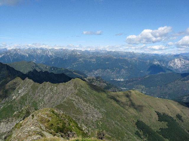 Panorama dallo Zeda - Panoramica sui rilievi della Val Vigezzo