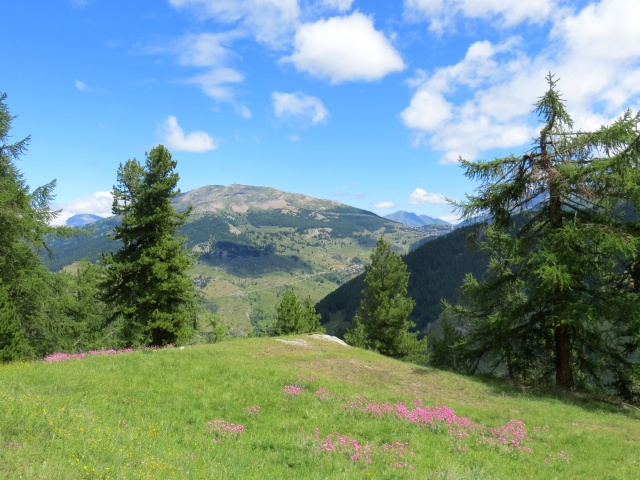 Panorama su Sestriere e sul sovrastante Monte Fraiteve
