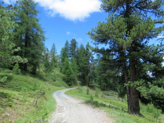 La bella strada che porta alla Madonna del Lago Nero