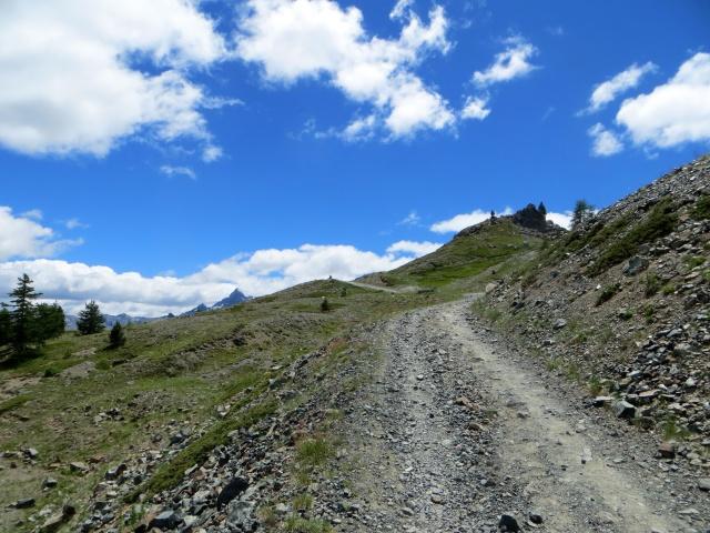 Dal Colle Bercia in direzione del Col Saurel - tratto piuttosto ripido
