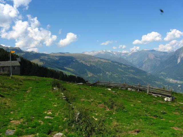 Puscett - panorama sulla Val di Blenio
