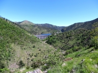 Valle del Gorzente, diga del Lago Bruno