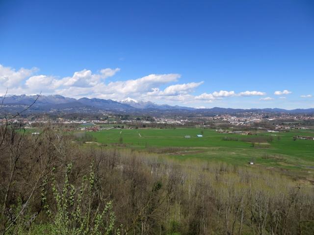 Baraggia di Candelo - panorama sulla sottostante pianura