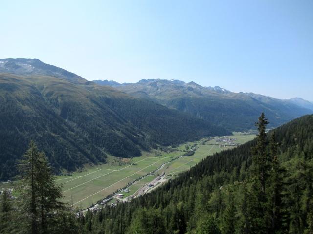 Panoramica sull'Obergoms salendo in quota