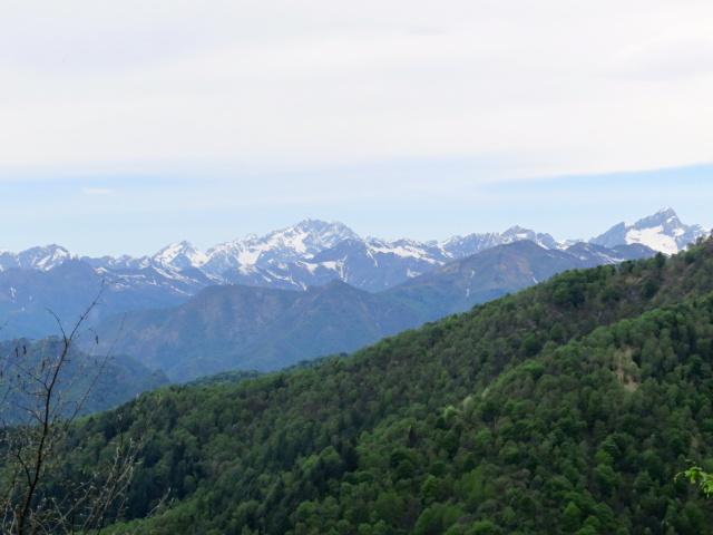 La catena alpina attigua al Monte Rosa