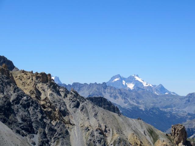 Vista sul Massiccio degli Ecrini - Pic Gaspard (3.886m) e la Meije (3.984m)