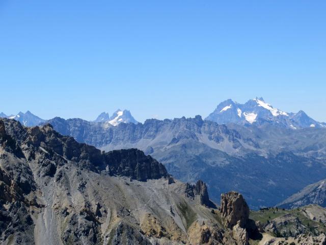 Vista sul Massiccio degli Ecrins - Pic Gaspard (3.886m) e la Meije (3.984m) (DX), La Grande Ruine (3.765m) a SX