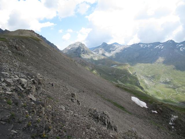 Passo Invergneux - vista sul vallone dell'Urtier