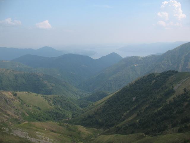 Panorama dal Bivacco Pian Vadà - Lago Maggiore