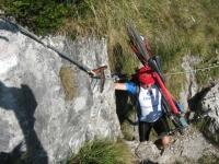 Passaggio con corda fissa