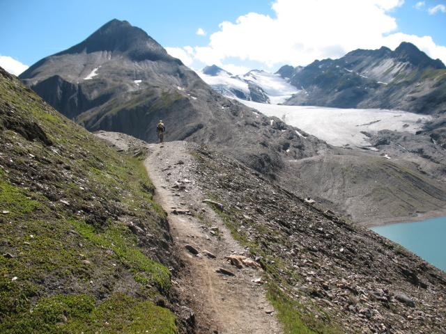 Single track nei pressi del Passo del Gries
