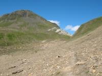 Panorama sul Passo del Corno in discesa verso il Passo del Gries