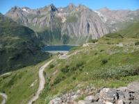 Lago di Morasco dalla strada per il Rifugio Maria Luisa