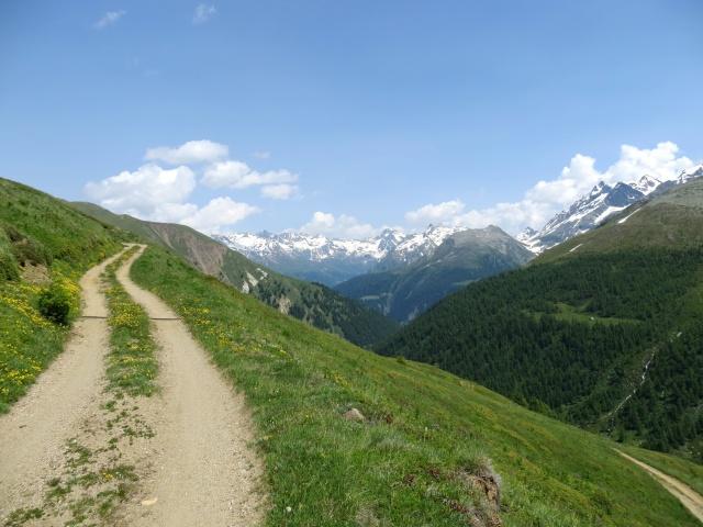 Salita al Saflischpass in direzione di Bruneggen, panorama