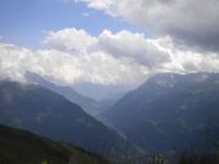 Panorama della Val Leventina dal Passo Scimfuss