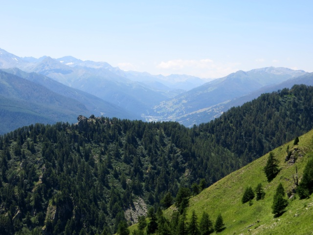 Strada dell'Assietta, panorama sul Colle Sestriere