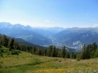 Panorama sull'Alta Val di Susa dal Colle di Costa Piana