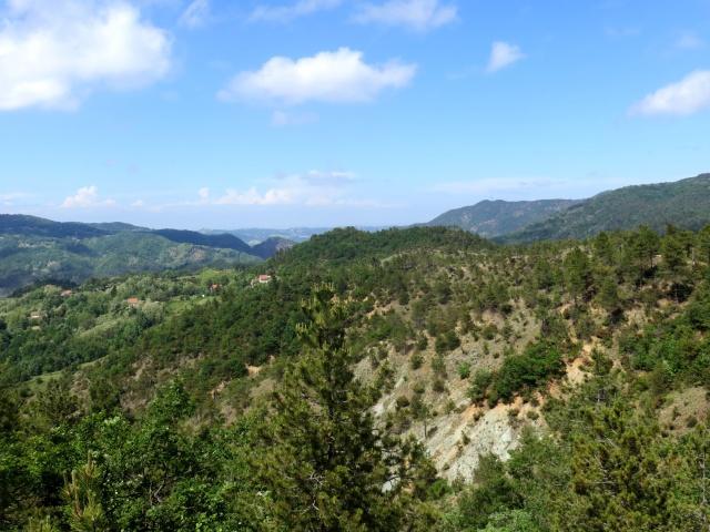 Panorama delle colline della valle Stura