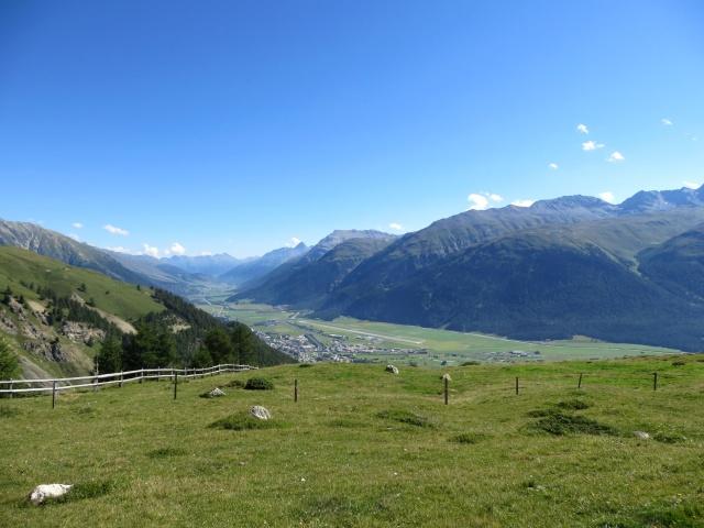 Panorama su Samedan e l'Alta Engadina