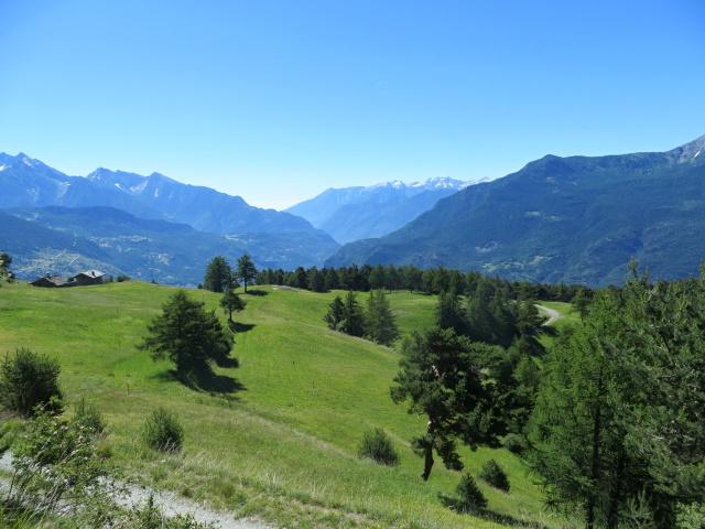 In direzione dell' Alpe Les Boettes, panorama